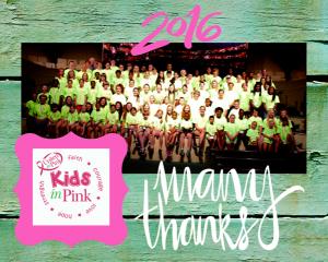 2016 Kids in Pink Summer Camp